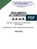 ACAS - Reglamento Carrera - 2018