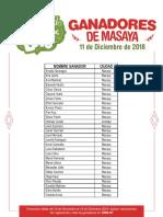 Listado de ganadores Masaya