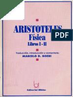 Aristóteles - Física (introducción y libro I)