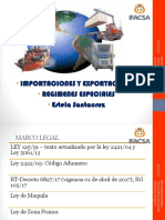 Presentacion Regimen Aduanero Importacion%252c Exportacion Regimenes Especiales
