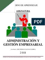 Administración y Gestión Empresarial 2018