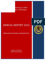 United States Attorney's Office Eastern District of Michigan 2016 Annual Report - Barbara McQuade