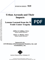 Urban Aerosols and Their Impacts Lessons Learned from the World Trade Center Tragedy
