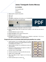 Instrucciones Tomografo del Centro Moreau