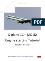MD 82 X Plane Engine Starting 103