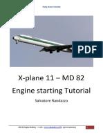 MD 82 X Plane Engine Starting 103