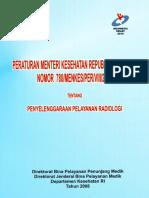 Permenkes780-2008 Penyelenggaran Pelayanan Radiologi
