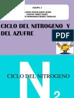 Ciclo nitrógeno  y azufre