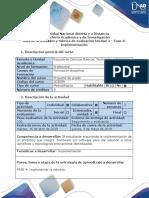 Guía de Actividades y Rúbrica de Evaluación - Fase 4 - Implementación