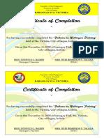 Pabasa Certificate