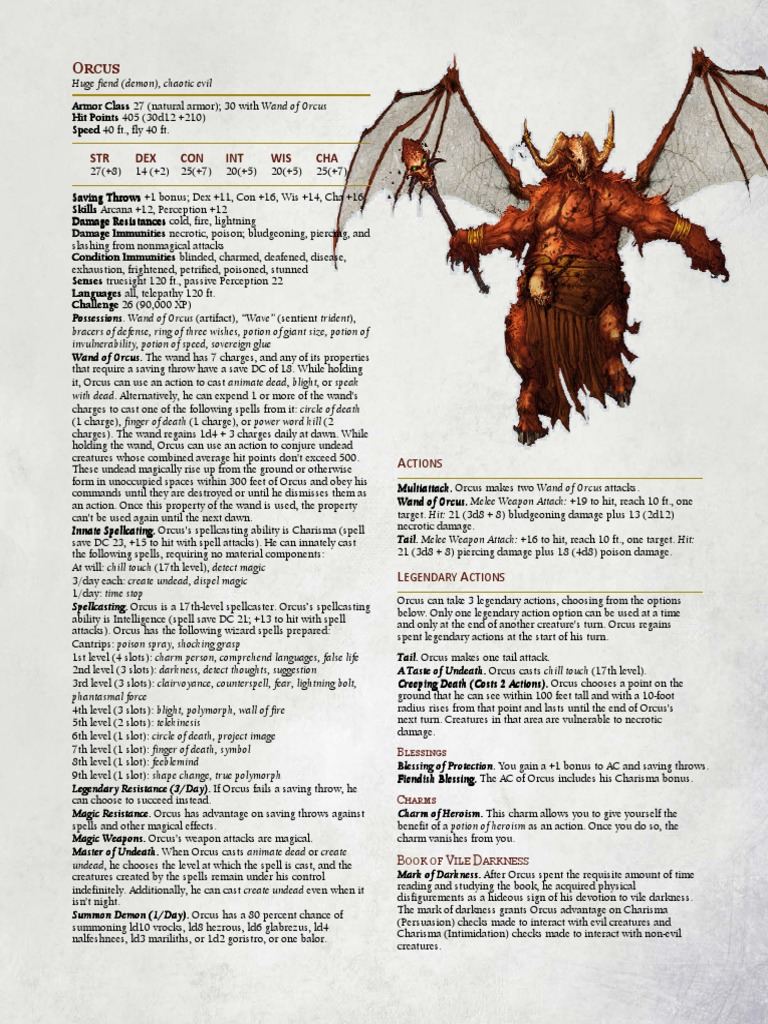 5e Orcus | Dungeons & Dragons