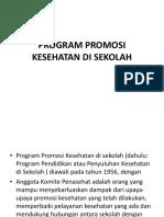 Program Promosi Kesehatan Di Sekolah
