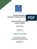 Thermal Modelling of PM Motor for v-Shape Magnet