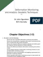 Deformation Analysis Using Geodetic Method