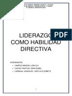 Liderazgo Como Habilidad Directiva (1)