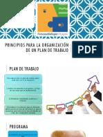 Principios Para La Organización de Un Plan De