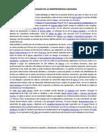 Cronología de La Independencia Nacional