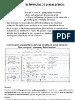 Utilización de Las Fórmulas de Placas Planas