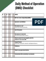 360 DMO Checklist