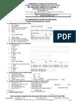Contoh Formulir PSB SD