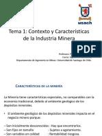 Contexto y Caracteristicas de la Industria Minera