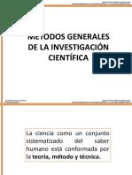 Los Métodos Generales de La Investigación Científica