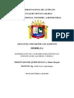 Determinación de Las Propiedades Extensivas e Intensivas Del Salchicha y Sémola