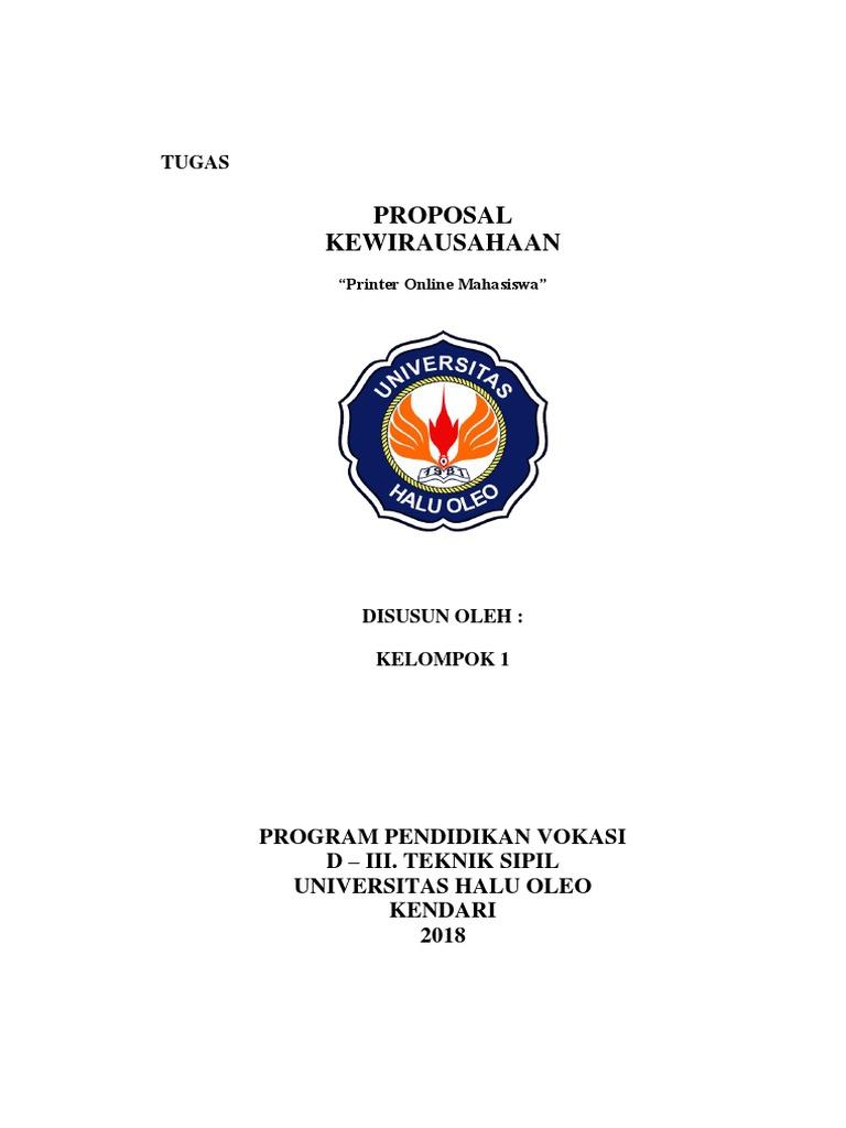 Proposal Kewirausahaan Tugas