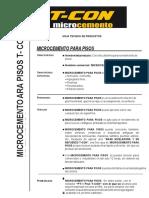 Ficha Tecnica Microcemneto Para Pisos