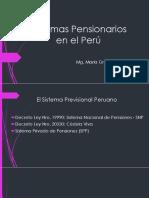 1.3. Sistemas Pensionarios en El Perú