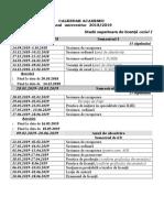 Calendar Academic 2018 2019 Facultatea de Drept4e419