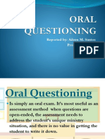 Oral Questioning Pp Presentation