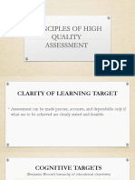 Principles of High Quality Assessment (Presentation)