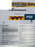 Proton Persona 2016 Owner's Manual