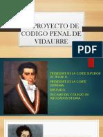 El Proyecto de Codigo Penal de Vidaurre Diapositiva