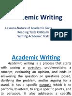 Reading Academic Texts