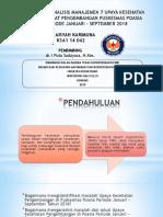Tap Laporan Analisis Manajemen Upaya Pelayanan Kesehatan Pengembangan Periode Januari - September 2018 Siti Aisyah Karimuna k1a1 14 042