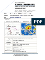 NDRRMC Severe Weather Bulletin on Typhoon Juan 18 Oct 2010 5AM