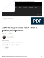ABAP Package Concept Part 4 – How to Perform Package Checks _ SAP Blogs
