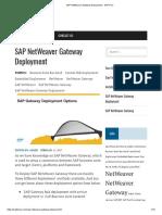 SAP NetWeaver Gateway Deployment - SAP Fiori