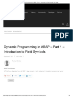 Dynamic Programming in ABAP – Part 1 – Introduction to Field Symbols _ SAP Blogs