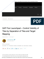 SAP Fiori Launchpad – Control Visibility of Tiles by Separation of Tiles and Target Mapping _ SAP Blogs