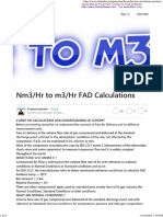 Nm3 to M3