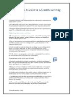 Twelve Steps to Clearer Scientific Writing