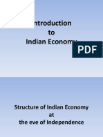 Structure of Indian Economy at the Eve of Independence