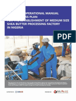 Model Business Plan for Shea Nut Processing to Butter