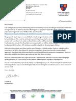 Parents Admissions Consultation Letter Nov 18