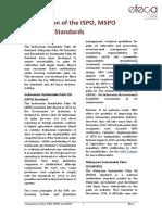 Efeca PO Standards Comparison