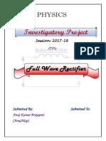 Full Wave Rectifier (Anuj Prajapati AnujAksp)