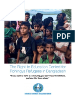 BROUK Report- The Right to Education Denied for Rohingya Refugees in Bangladesh
